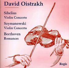 CD DAVID OISTRAKH SIBELIUS & SZYMANOWSKI VIOLIN CONCERTO BEETHOVEN ROMANCES