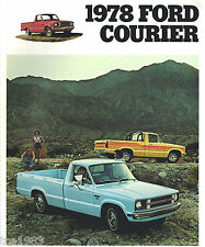 1978 FORD COURIER PickUp Pick Up Truck Brochure / Pamphlet with Color Chart