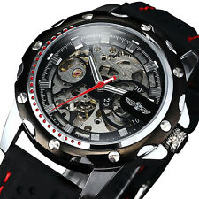 Military Mechanical Automatic Skeleton Men's Analog Quartz Wrist Watch Brand New