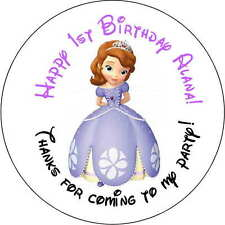 24 1.67 Inch Stickers party Personalized round sealers Birthday sofia the first