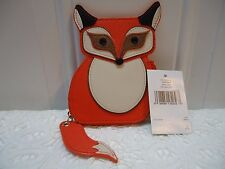 Kate Spade Fox  Leather Coin Purse WLRU 2560  NWT $ 79