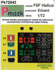 F6f HELLCAT PITTURA Maschera Per Eduard KIT #72043 1/72 pmask