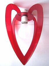 Stylish Red Love Heart Ceiling Pendant Light Shade Chandelier Lampshade Fitting