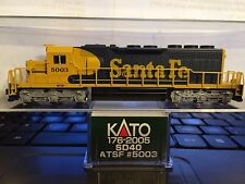 *** Kato # 176-2005 * SD40 *  ATSF Santa Fe  # 5003 * DC Powered ***
