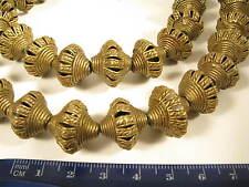 Strang Messingperlen BR5 Gelbguß Ghana Brass Beads Ashanti Akan Afrozip
