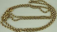 Antique Victorian 30 inch long 9ct gold watch guard chain 21.3 grams