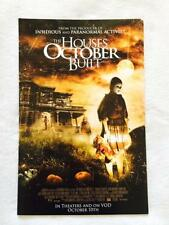 "THE HOUSES OCTOBER BUILT 11""x17"" Original Promo Movie Poster 2014 MINT Halloween"