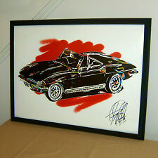 Hot Wheels, 1964 Chevrolet Corvette Convertible, Chevy, 18x24 POSTER w/COA