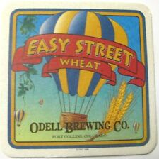 EASY STREET WHEAT Beer COASTER Mat w/ BALLOON Odell Brewing, Ft Collins COLORADO