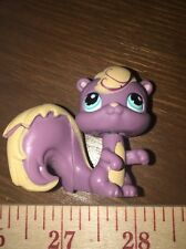 Littlest Pet Shop #999 Purple And Gold Squirrel Chipmunk With Teal Eyes
