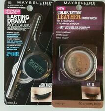2 MAYBELLINE NEW YORK EYE MAKEUP ITEMS.1 CREAM SHADOW & 1 LIQUID EYELINER.