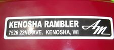 AMC Kenosha Rambler dealership emblem AMX Javelin Rambler Marlin Classic Rebel