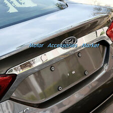 Chrome Rear Trunk Lid Cover Tail Door Molding Trim For Ford Fusion 2013 14 15 16