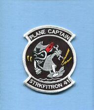 VFA-41 BLACK ACES US NAVY F-18 HORNET PC PLANE CAPTAIN Fighter Squadron Patch
