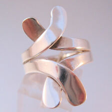 Modern X Sterling Silver Ring Size 7.5 Unisex Vintage Jewelry Jewellery