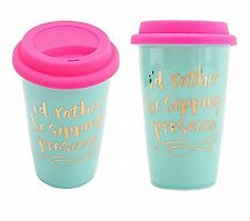 Travel Mug Rather Be Sipping Prosecco Coffee Tea Thermal Cup