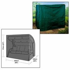 HEAVY DUTY 3 SEATER SWING SEAT COVER GARDEN OUTDOOR WEATHERPROOF HAMMOCK CHAIR