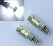 2x T10 CANBUS CREE W5W 501 LED 10 SMD SUPER BRIGHT WEDGE LIGHT WHITE XENON BULBS