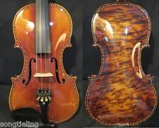 Baroque style SONG  maestro bird's eye inlay shell violin 4/4 great sound