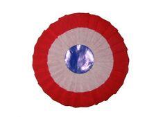 10 Cocardes en papier bleu blanc rouge tricolore France supporter sports fete
