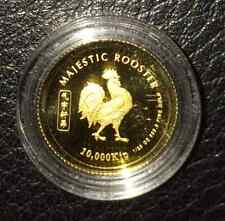 Laos 2005 Year of the Rooster 1/25 oz Gold BU Coin - (999 Bullion Gold)