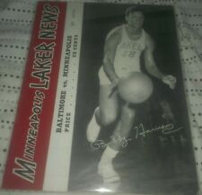 1951-52 Minneapolis Lakers vs Baltimore Bullets Basketball Program