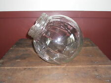 ANTIQUE LARGE CLEAR GLASS COOKIE OR CRACKER JAR