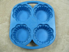 Vintage Fisher Price Fun with Food Blue Cupcake Muffin Tray 1987