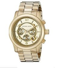 Michael Kors MK8077 Gold Runway Oversized Unisex Watch