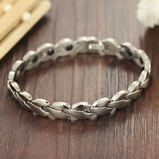 Girls Ladies Bracelet Titanium Stainless Steel Magnetic Therapy Jewelry Bangle