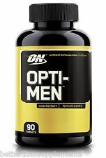 Optimum Nutrition ON OPTI-MEN 90Tabs HIGH-POTENCY Vitamins & Minerals - Free P&P