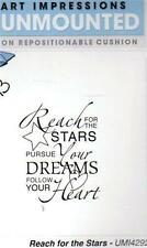 New ART IMPRESSIONS RUBBER STAMP Cling  Graduation Reach for the stars dreams