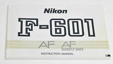 NIKON F-601 Instruction Manual