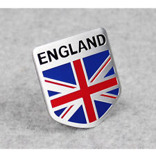 UK England Flag Emblem Badge Decal Sticker Fender Aluminium
