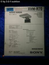 Sony Service Manual XVM R70 Overhead Monitor  (#6131)