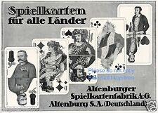Altenburg Spielkarten Reklame v. 1918 Karten Kartenspiel Hindenburg card game ad