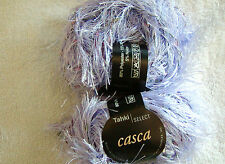 2 SKEINS - Tahki Casca - Luxury eyelash & ribbon yarn. Color #22 --LILAC
