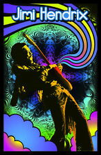 Jimi Hendrix Black Light Poster Awesome Colors! Blacklight Poster HAZE BRAND NEW
