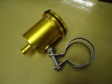 BILLET Aluminium GOLD  Brake Clutch Reservoir Pot - Streetfighter Cafe Racer