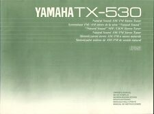 Yamaha TX-530 User Manual BDA Bedienungsanleitung