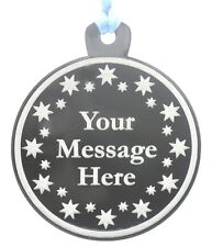 Personalised 7cm Diameter Perspex Medal. Your choice of text and graphics.