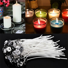 30X Candles Wicks Cottons Core Waxed With Sustainers For Candles Making 4 InchPB