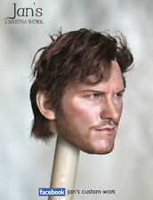 1/6 Hot CUSTOM Guardians of the Galaxy Star-lord Chris Pratt toys figure head DX