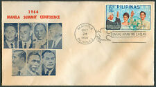 1966 Philippines MANILA SUMMIT CONFERENCE First Day Cover - A