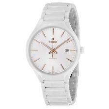 Rado True Automatic White Dial White Ceramic Unisex Watch R27058112