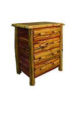 Rustic Red Cedar Log 4 DRAWER DRESSER - Amish Made in USA