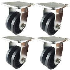 """4"""" x 2""""  V-Groove Caster - 4 Rigids"""