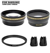 Lens Set For Samsung NX10 NX11 NX100 NX200 NX210 NX300 NX1000 w/16mm, 20mm, 30mm