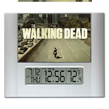 The Walking Dead Digital Wall Desk Clock with temperature + alarm
