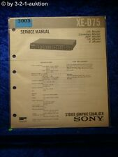 Sony Service Manual XE D75 Graphic Equalizer (#3003)